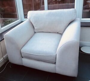Heals Scoop Armchair Neutral / Oatmeal very comfy- RRP £695 bargain due to move