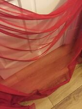"25 MTR ROLL OF SOFT RED TULLE STUDDED BRIDAL/DECORATION NET FABRIC..45"" WIDE"