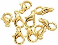 Cierres langosta color dorado 25 unidades fornituras
