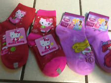 2 Hello Kitty Socks And 2 Disney Socks 4 Pairs Total