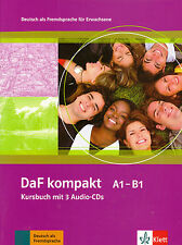 Klett DAF Kompakt A1-B1 Kursbuch mit 3 Audio CD Deutsch pelliccia Erwachsene @NEW @