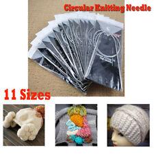80cm Straight Circular Knitting Needles Crochet Hook Weave Set  Stainless Steel