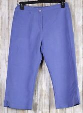 Woolrich women's pants size 8 Petite Capri Cropped Lavender