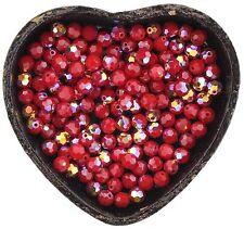 Swarovski Crystal 5000 6mm Round Beads - DARK RED CORAL AB (12 PCS)