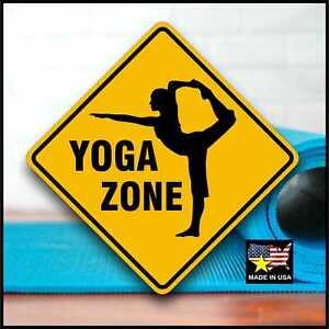 YOGA ZONE - Inspirational Fitness Sign - Aluminum - Pilates - Fun Excercise Gift