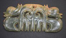 "Rare Chinese ""Hong Shan"" Culture Jade Stone Carved ""Gou Yun Pei"" L 12.5 cm #10"