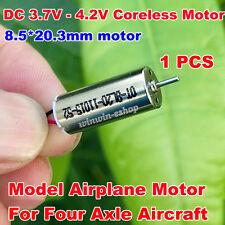 DC 3.7V 4.2V 44000RPM 8.5*20mm High Speed Micro Coreless HM Motor DIY RC Drone