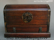 China Huang Huali Wood Drawer Storage Jewelry Box Treasure Chest Bin Case Statue