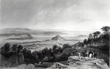 LANCASTER SANDS, FROM LINDELL 1858 George Pickering - William Le Petit ENGRAVING