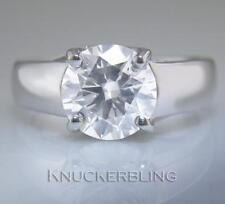 Anello di diamanti rotondi certificato 3.00ct H VS2 XXX taglio a brillante oro bianco 18ct