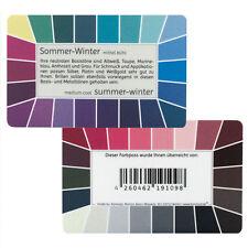 """Farbpass Sommer-Winter """"Loop"""" - Plastikkarte mit 44 Farben"""