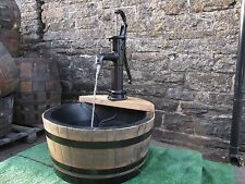 """Self contained 72cm diameter (28"""") lined barrel water feature - Village pump"""