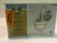 New ListingHampton Bay 1-Light Brushed Nickel Outdoor Cottage Lantern New Other