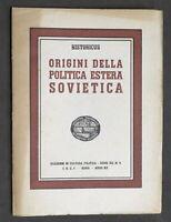 Historicus - Origini della politica estera sovietica - 1^ ed. 1942