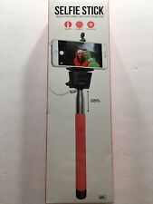 GEMS Selfie Stick Telescoping Handle with Shutter Button Red Handle NEW