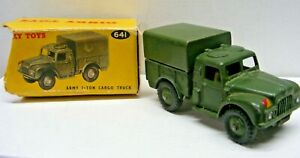 Dinky Toys #641 Army Humber 1-Ton Cargo Truck w/Box & Rear Hitch Added