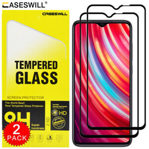 For Xiaomi Redmi 9 Caseswill Full Coverage Tempered Glass Film Screen Protector