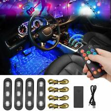Car Interior LED Lights USB Multicolor Star Lights Sound Active Wireless Remote