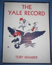 THE YALE RECORD -  TORY NUMBER OCTOBER 10, 1934 OLDEST COLLEGE HUMOR MAGAZINE