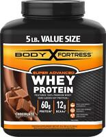 Body Fortress Super Advanced Whey Protein Powder, Gluten Free, Chocolate, 5...
