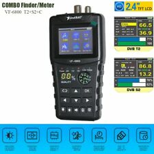 VF-6800 Satellite Finder Meter Dvb-t2/DVB S2/DVB C Combo Sat Finder Dvb t2