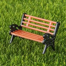 10x Model Benches Railway Park Bench Seated People Home Garden Seats Scale 1:75