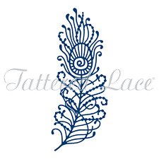 Tattered Lace Die by Stephanie Weightman ~ Peacock Feather,  TTLD1291 ~ NIP