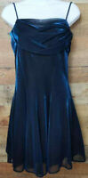 All That Jazz Dance Dress Sleeveless Sparkly Dark Blue Knee-Length Juniors 11/12