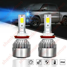 2PC H8 H9 H11 H16 8000K Ice Blue 8000LM LED Headlight Bulbs High + Low Beam NewX