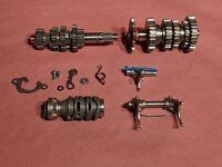 04-05 Kawasaki KX250F RMZ250 Transmission Trans Gear Shaft Fork Drum Assembly
