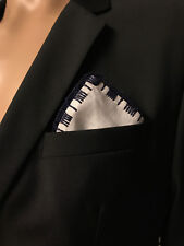 New A.S.W.O.L Men Handmade 100% Cotton Solid Pocket Square With Border/Edge ף