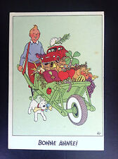 Ancienne carte postale Casterman Tintin Brouette cadeaux TRES BON ETAT
