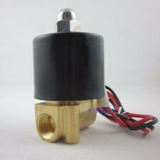 "DC12V 1/4"" NC Pneumatic Electric Solenoid Valve 2W-025-08 f Water Air Gas Diesel"