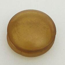 Vintage Small Snuff Box Convex Amber Colored Plastic