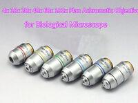 Microscope Plan Achromatic Objective Lens 4X/10X/20X/40X/60X/100x Ocular