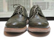 Men's Cole Haan Olive Green Long Wingtips Size 9.5 M