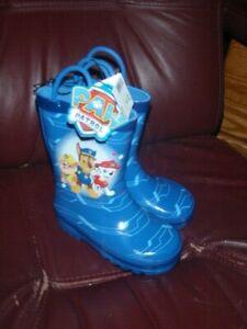Nickelodeon Paw Patrol Rain Boot Boys' Toddler SZ MEDIUM 7/8 NEW W/TAG RET. $39