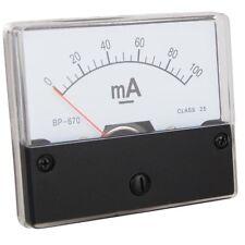 Messinstrument 0 - 100 mA DC zum Einbau, Analog Amperemeter mit Shunt
