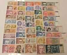 More details for yugoslavia huge collection 46 different banknotes 1985-96 to 500 billion dinara!