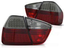 LED REAR TAIL LIGHTS LDBM68 BMW 3 SERIES E90 2005 2006 2007 2008 RED SMOKE