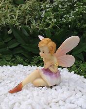 Miniature Figurine FAIRY GARDEN ~ Sitting Pastel Flower Fairy Figurine~ NEW