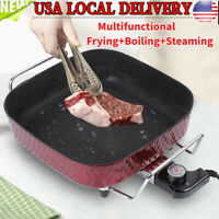 Electric Skillet Non Stick Electric Frying Pan 12 Inch Electric Deep Skillet NEW