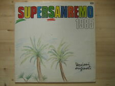 "ZUCCHERO RUGGERI IVAN GRAZIANI GARBO ""Supersanremo 1985"" LP ORIG"