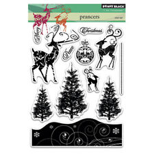 New Penny Black PRANCERS Clear Stamps Christmas Trees Reindeers Holidays Peace