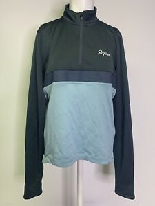 Rapha L Long Sleeve Club Jersey 1/4 Zip Light Weight Jacket Blue Size Large