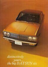 Datsun Nissan Six 2300 Saloon 1969 Australian Market Single Sheet Brochure