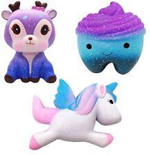 NIMU 3 Pieces Squishies Pack Kawaii Jumbo Squishies UK Soft and Slow Rising Toy