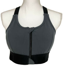 LuLaRoe Consistent Sports Bra - Medium - Gray & Black - Rise Workout #4330