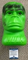 LOU FERRIGNO Signed The Incredible HULK 1979 Halloween Bucket BUST Beckett COA