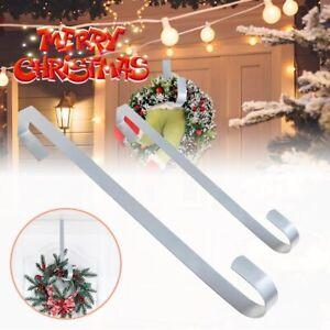 Christmas Winter Wreath Door Hanger Metal Hook Xmas Decoration 28cm Craft